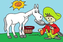 Caballo y Johnny Little Pea