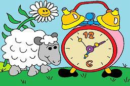 Oveja y Reloj despertador