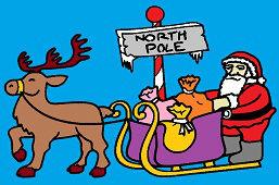 Papá Noel en un trineo
