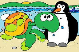 Tortuga y Pingüino