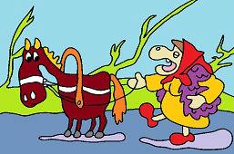 Baba Yaga y el caballo