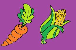 Zanahoria y maíz