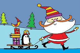 Papá Noel está llegando