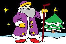Santa en Navidad