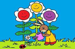 Conejito jardinero