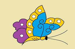 Mariposa de jardín