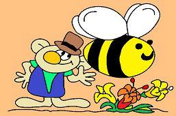 Elfo y gran abeja