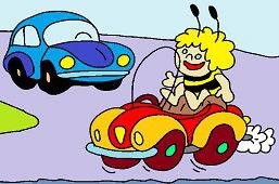 Maya, la abeja y el coche