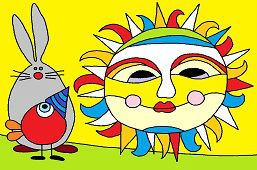 Sol colorido
