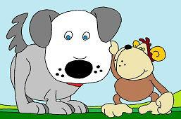 Perro y mono