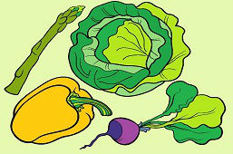 Vegetales saludables