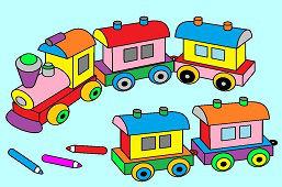 Tren de madera juguete