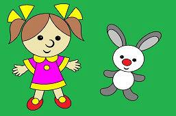 Muñeca y conejito